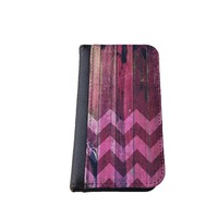 caseorama Wood print iPhone 5C wallet case Flip Case graphic chevron dandelion anchor graphic distressed (Wood Chevron)