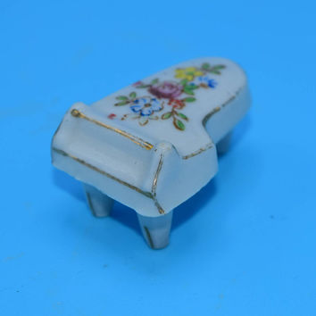 Miniature Grand Piano Vintage Made in Japan Porcelain Floral Piano Dollhouse Furniture Dollhouse Piano Gift for Her Mothers Day Gift