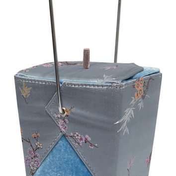Chow Time Blue Silk Takeout Purse