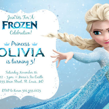 Frozen Birthday Invitation Personalized Printable