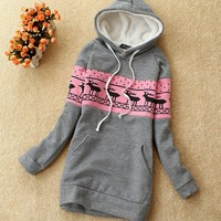 Casual Lovely Womens Hooded Hoodies Pullover Sweats Outerwear