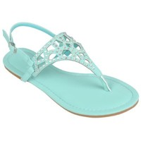 Brinley Co Womens Bejeweled Slingback Sandal