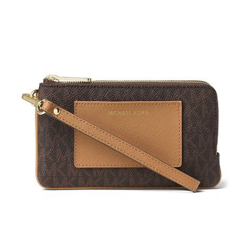 MICHAEL Michael Kors Bedford Medium Double Zip Wristlet
