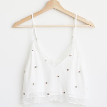 Rose Bud Lace Tank Top