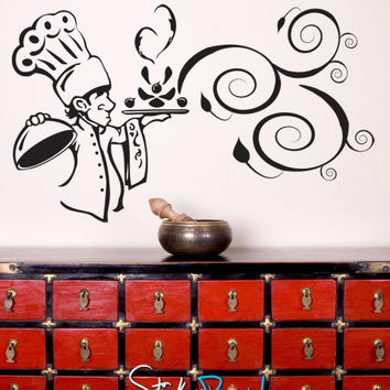 Vinyl Wall Decal Sticker Kitchen Chef Aroma #GFoster122
