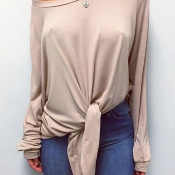 Mercy Top - Taupe