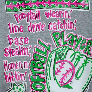 SALE Southern Chics Funny Softball Player Sports Sweet Girlie Bright T Shirt