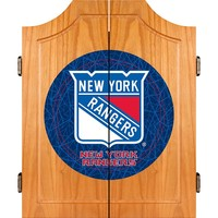 New York Rangers Wood Dart Cabinet Set (Ran Team)