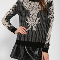 Urban Outfitters - Lucca Couture Baroque Intarsia Sweater