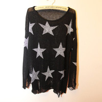 "The ""Star Crossed"" Distressed Sweater from ShopWunderlust"