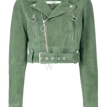 Off-White Cropped Biker Jacket - Farfetch