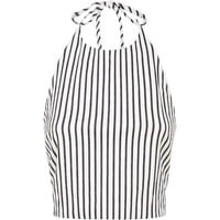 Alice + Olivia Jaymee Stripe Crop Top