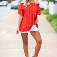 Fab In Flamingo Top, Tomato