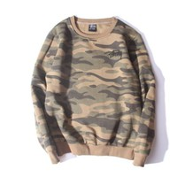DCCKUNT Stussy Round Neck Camouflage Sweater Pullovers
