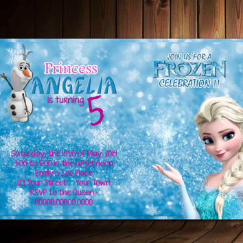 Princess Anna Disney Frozen Birthday Invitation