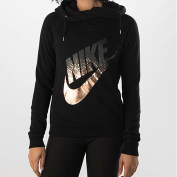 Women's Nike Rally Funnel Metal Hoodie
