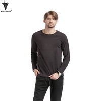 Men Long Sleeve Casual Cotton Print T-shirts [10807115779]