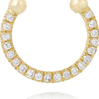 Ileana Makri - Thread 18-karat gold diamond nose ring