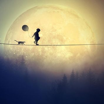 """Supermoon In Wonderland"" - Art Print by Diana Grigore"