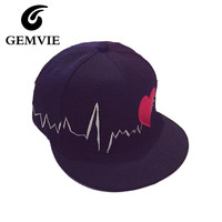 Gifts Casual Embroidery Character Red Heart Cotton Baseball Hats For Women Snapback Hip Hop Cap Men