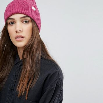 Jack Wills Pink Cable Beanie with Pom Pom