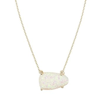 Isla Necklace in White Kyocera Opal - Kendra Scott Jewelry