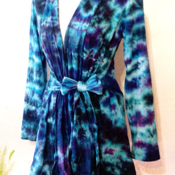 Plus Size, Tie Dye Wrap Jacket, Bohemian, Hippie Clothes