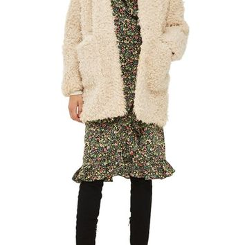 Topshop Curly Faux Fur Coat | Nordstrom