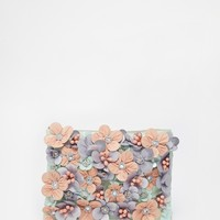 ASOS Flower Embellished Clutch Bag