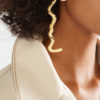 REJINA PYO - + Anissa Kermiche Grande Tete a Tete gold-plated pearl earrings