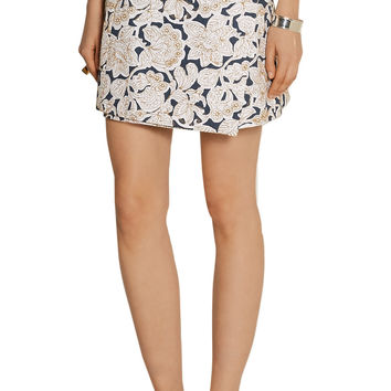 Suno Embroidered cotton-canvas mini skirt – 60% at THE OUTNET.COM