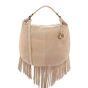 Lucky Brand Bailey Fringe Convertible Hobo Bag