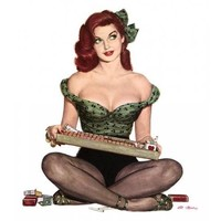 NEW! Retro Pinup Girl Redhead Cigarette Girl Vintage Poster Wall Art