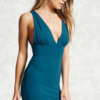 Plunging Cutout Bodycon Dress