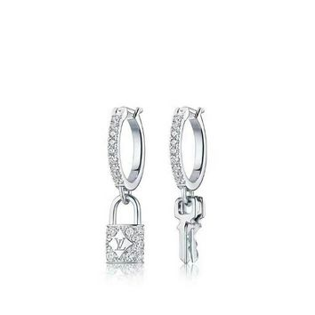 hcxx LV Diamond Blossom Key Lock Earring Sliver