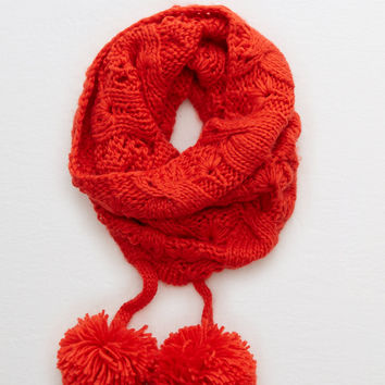 Aerie Pom-tastic Snood , Holiday Red
