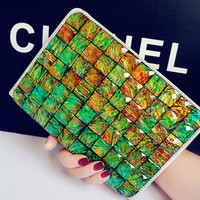Luxury Handmade Crystal Bling Leather Case for ipad Pro,case  for ipad Air 1 2, for ipad  mini