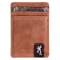 Browning Men's Canvas Camo Front Pocket Wallet