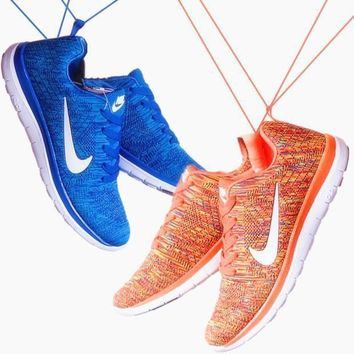 """NIKE"" Trending Fashion Casual Sports Shoes Blue white hook"