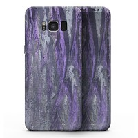 Abstract Wet Paint Purple v3 - Samsung Galaxy S8 Full-Body Skin Kit