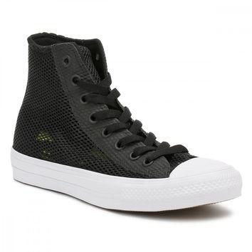 Converse All Star Chuck Taylor II Mens Black/White Hi Top Trainers