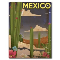 Mexico Vintage travel poster.