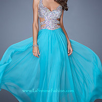 Open Back Sweetheart Formal Gown by La Femme