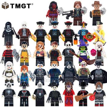 TMGT Single Sale Minifigs Halloween Horror Character Jack Skellingston Juguetes Building Blocks Gifts Toys For Children Friends