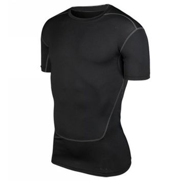 Men Compression Base Layer Tee Shirts Athletic Tops Sports Collection New S-XXL