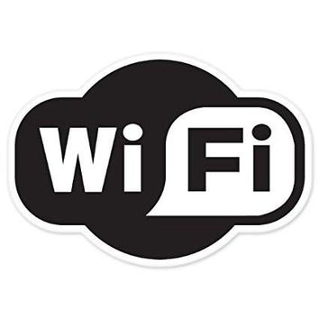 Wi-fi Wireless Internet Store Cafe Shop Sign  Car Window Ipad Tableet PC Notebook Cumputer Decal Sticker