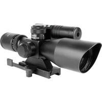 2.5-10X40 DUAL ILL. SCOPE W/GREEN LASER/MIL-DOT