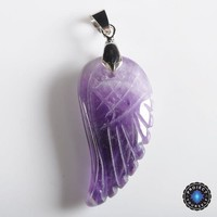 Natural Stone Angel Wing Pendant