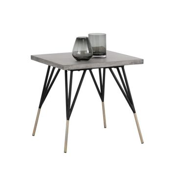 MINDY BRUSHED ANTIQUE BRASS FEET WITH SEALED CONCRETE TOP SIDE TABLE