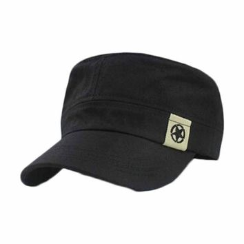 Roof Hat For Man Cadet Patrol Bush Hat Casual Caps cotton concise Hat Black